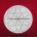 Mandala en bois 14,8x0,3 cm