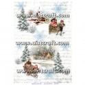 Papier de riz Paysage d'hiver