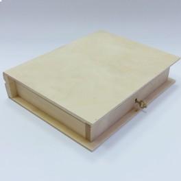 boite  livre en bois